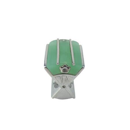 925 Ασημένιο Δαχτυλίδι με Πράσινη Πέτρα Λευκές Ζιργκόν Πέτρες Γυναικείο