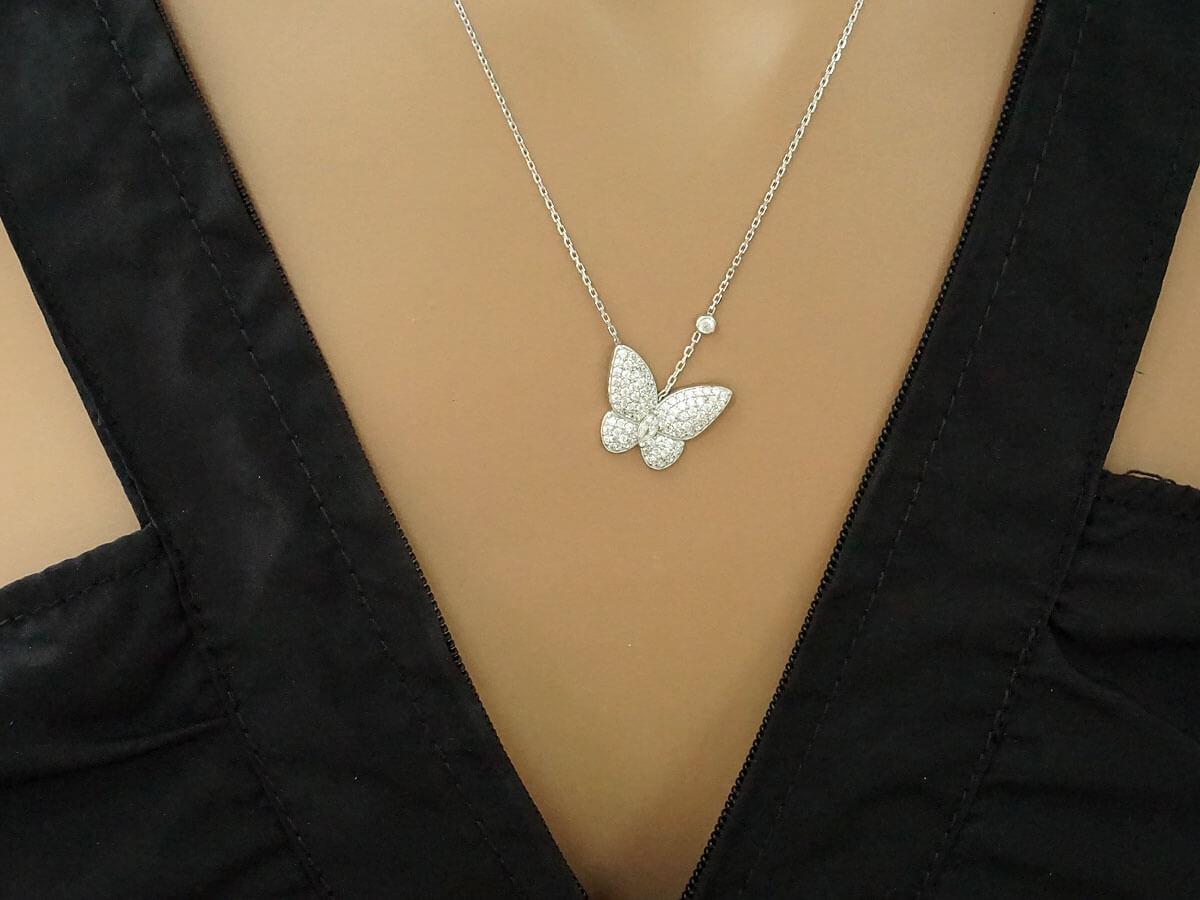 Ασημένιο Μενταγιόν Πεταλούδα 925 Ζιργόν Γυναίκα Δώρο Κόσμημα