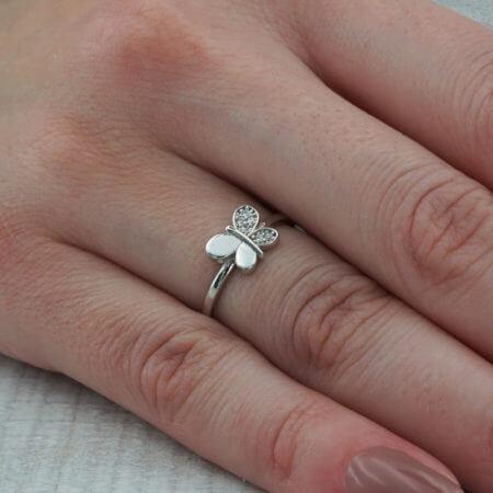 Ασημένια Πεταλούδα 925 Δαχτυλίδι