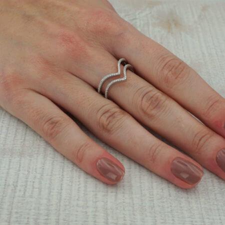 Ασημένιο Δαχτυλίδι Ασημί 925 Γυναικείο