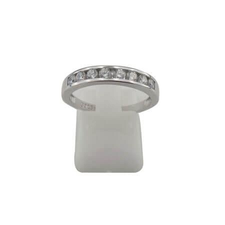 Ασημλενιο Δαχτυλίδι Σειρέ Ασημί Ζιργόν Πέτρες Λευκές Γυναικείες 925