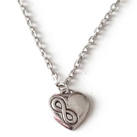 Ασημένιο Γυναικείο Μενταγιόν 925 Λαιμού Καρδιά Ασημί Αλυσίδα