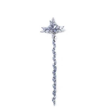Ασημένιος Γυναικείος Σταυρός Λαιμού 925 Ζιργκόν