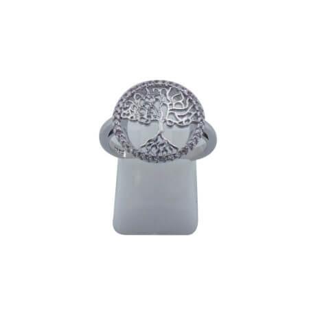 Ασημένιο Γυναικείο Δαχτυλίδι 925 Ασημί Δέντρο Ζωής