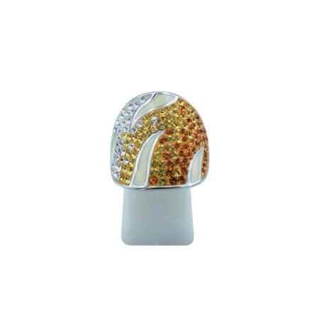 Ασημένιο Δαχτυλίδι 925 Σμάλτο Γυναικείο Ζιργκόν Πέτρες