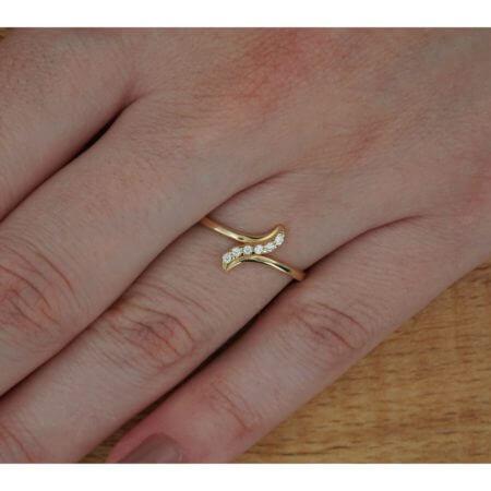 Γυναικείο Κίτρινο Χρυσό Δαχτυλίδι 14Κ Ζιργκόν