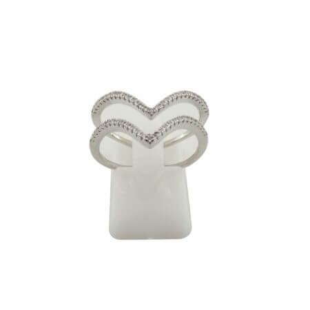 Δαχτυλίδι Ασημί Ζιργκόν Λευκές Πέτρες Γυναικείο 925 Ασημένιο