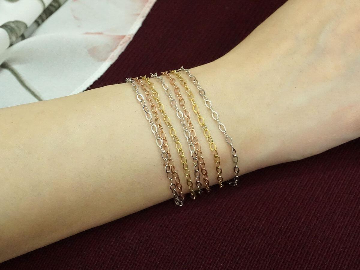 Γυναικείο Βραχιόλι Κόσμημα Ασήμι 925 Πολύχρωμες Αλυσίδες