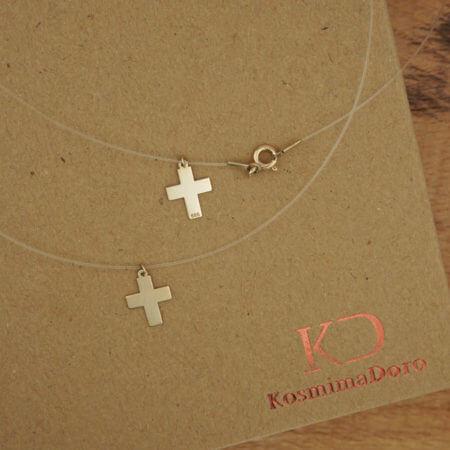 14Κ Σταυρός Γυναικείος Κορίτσι Ζιργκόν Πέτρες Χρυσός