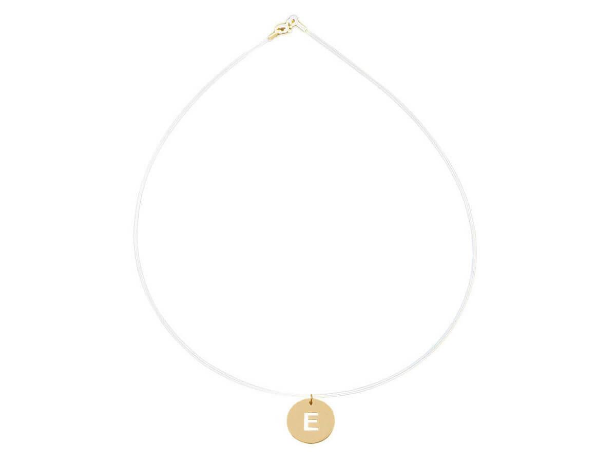 Μονόγραμμα 14Κ Κίτρινο Χρυσό Γυναικείο Πλακέτα Μενταγιόν Λαιμού Ντίζα