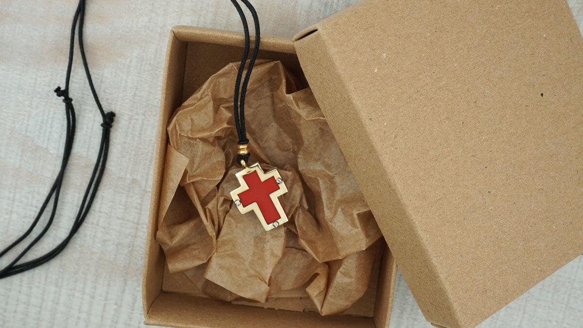 Χρυσός Σταυρός 14Κ Χρυσό Ατσάλι Γυναικείος Κορίτσι
