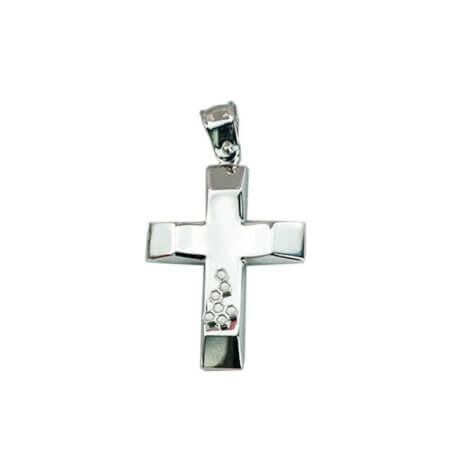 Λευκόχρυσος Σταυρός Βάπτισης 14Κ