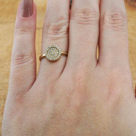 Ροζέτα 14Κ Ζιργκόν Γυναικείο Δαχτυλίδι