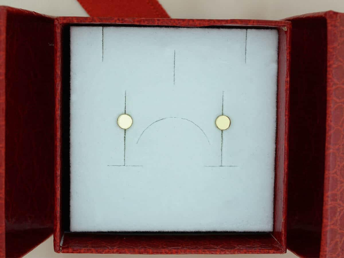 Σκουλαρίκια Γυναικεία Καρφωτά Κίτρινο Χρυσό