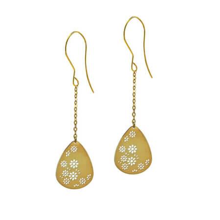 Σκουλαρίκια Κρεμαστά 9Κ Μαργαρίτες Χρυσά Γυναικεία