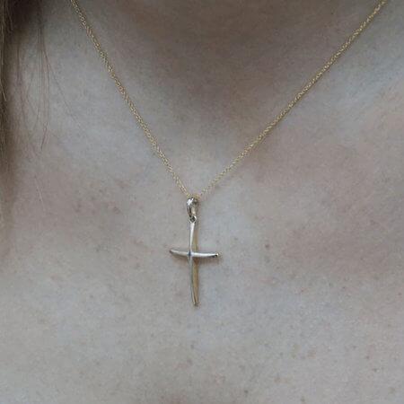Σταυρός Χρυσός Γυναικείος Κορίτσι 14Κ