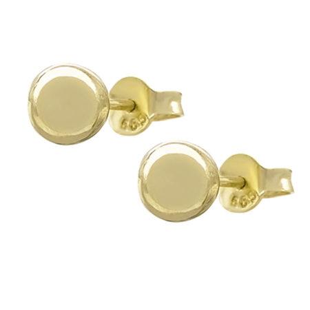 Χρυσά Σκουλαρίκια Φούσκες 14Κ Κίτρινο Χρυσό