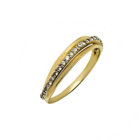 Χρυσό Δαχτυλίδι Με Ζιργκόν Πέτρες 14Κ Γυναικείο Κόσμημα