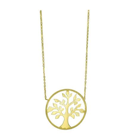 Γυναικείο Κολιέ Χρυσό 14Κ Δέντρο Ζωής