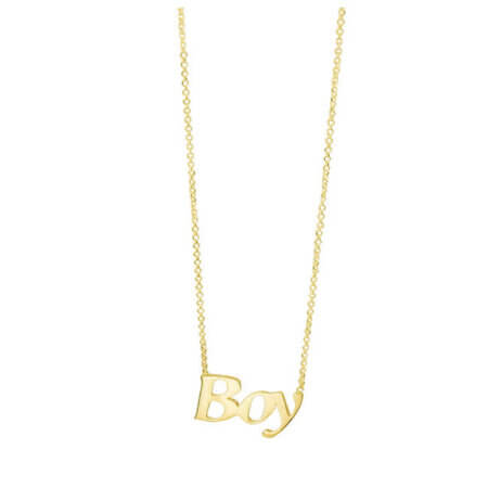 Χρυσό Κρεμαστό 9Κ Boy Αλυσίδα Κολιέ Γυναικείο Κόσμημα Μαμά