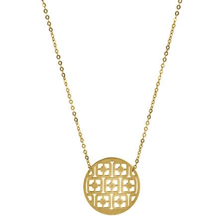 Γυναικείο Χρυσό Κρεμαστό Λαιμού 9K Σχήμα Κύκλο Μοτίφ