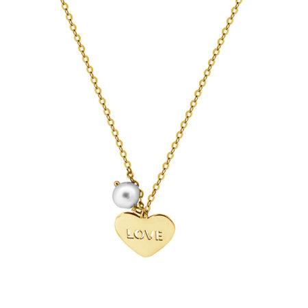 Χρυσό Κρεμαστό Καρδιά 9Κ Love Μαργαριτάρι