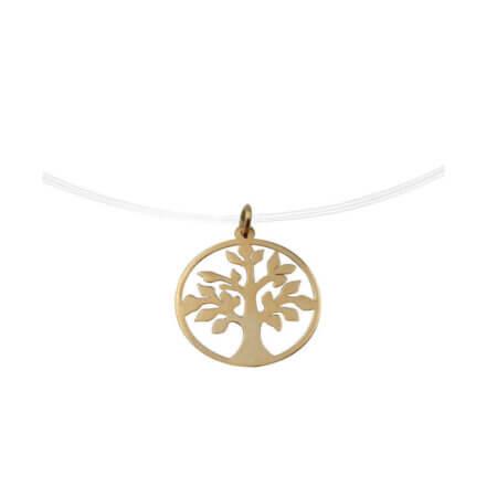 Χρυσό Μενταγιόν Δέντρο της Ζωής 14Κ Ντίζα