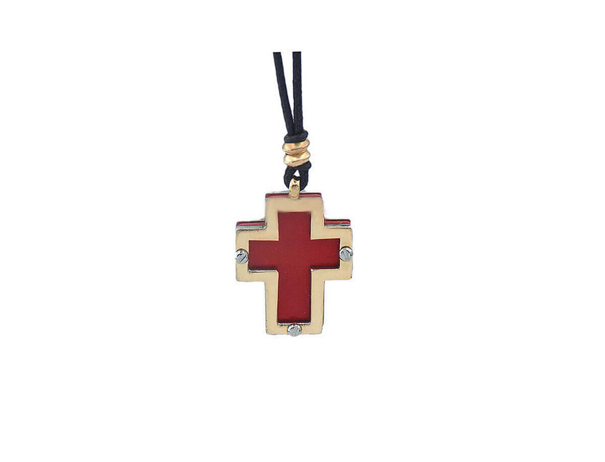 Χρυσός Σταυρός 14Κ Ατσάλι Γυναικείος Κορίτσι
