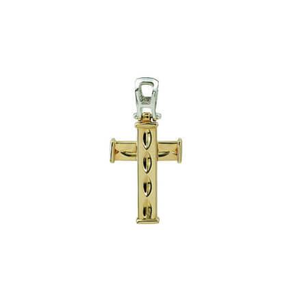Χρυσός Σταυρός 14Κ Λευκόχρυσος Γυναικείος Ανδρικός Σταυρός Βάπτιση