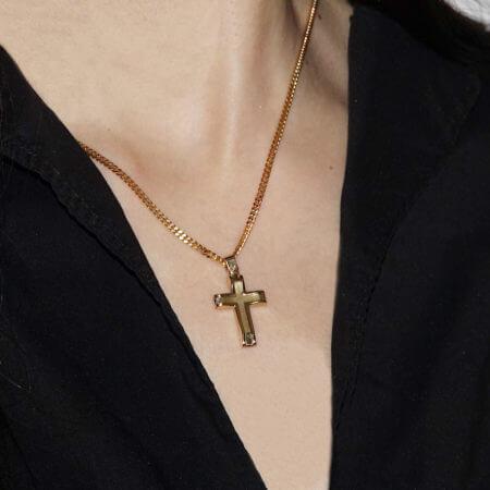 Χρυσός Σταυρός 14Κ Γυναικείος Ανδρικός Γυναικείος Κορίτσι Κόσμημα