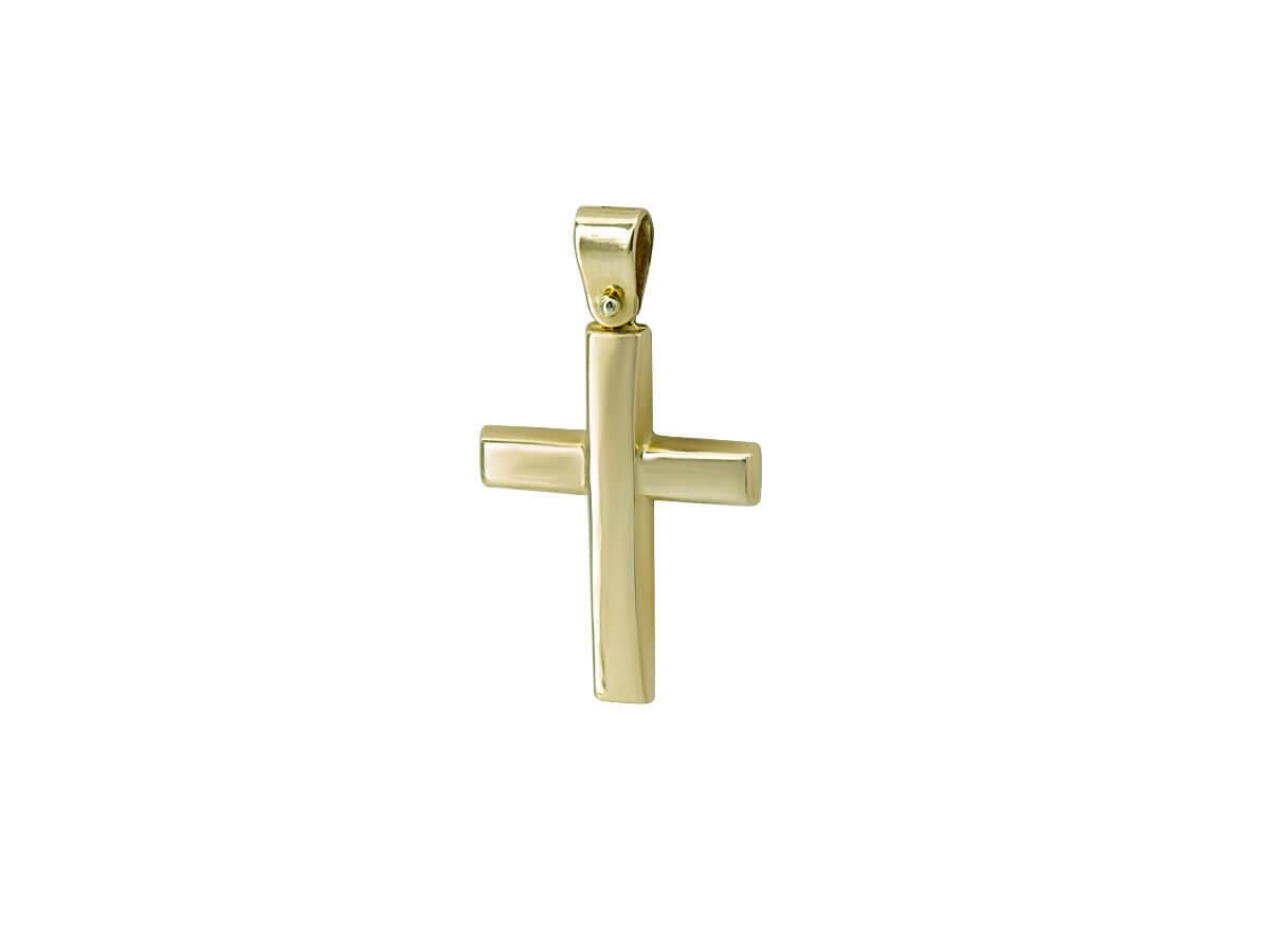 Χρυσός Βαπτιστικός Σταυρός 14Κ Άντρες Γυναίκες