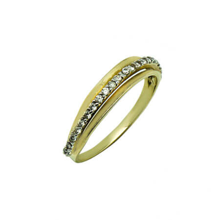 Ζιργκόν Λευκές 14Κ Γυναικείο Χρυσό Πέτρες Δαχτυλίδι Επέτειος Δώρο