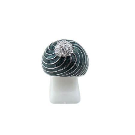 Ασημένιο Δαχτυλίδι Ασήμι 925 Ζιργκόν Λευκές Πέτρες Γυναικείο