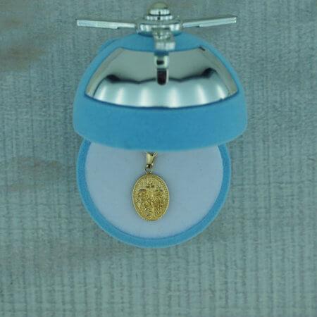 9Κ Χρυσό Κωνσταντινάτο Μενταγιόν Γέννηση Βάπτιση