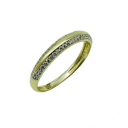 Χρυσό Γυναικείο Δαχτυλίδι 14Κ Λευκές Ζιργκόν Πέτρες