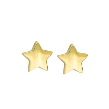 Χρυσά Σκουλαρίκια Αστέρια 9 Καράτια Καρφωτά για Κορίτσια Γενέθλια Βάπτιση