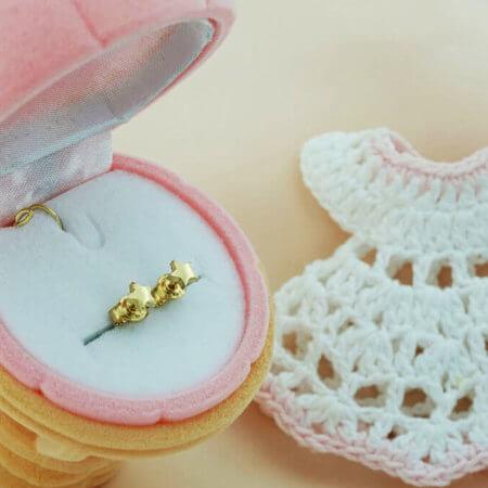 Χρυσά Παιδικά Σκουλαρίκια 9Κ Αστεράκια Καρφωτά Κοριτσίστικα