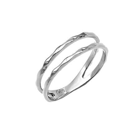 Λευκόχρυσο Δαχτυλίδι 14Κ Γυναικείο Κορίτσι