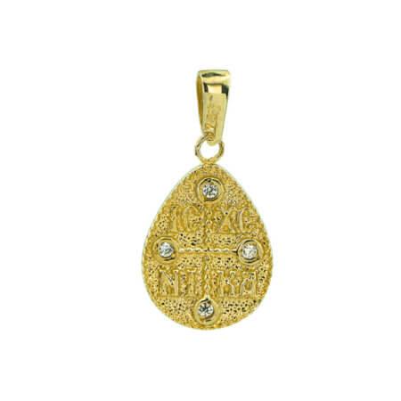 Χρυσό Κωνσταντινάτο 9Κ ΙΧΝΚ Κωνσταντίνος Ελένη Διπλής Όψεως Γυναίκα