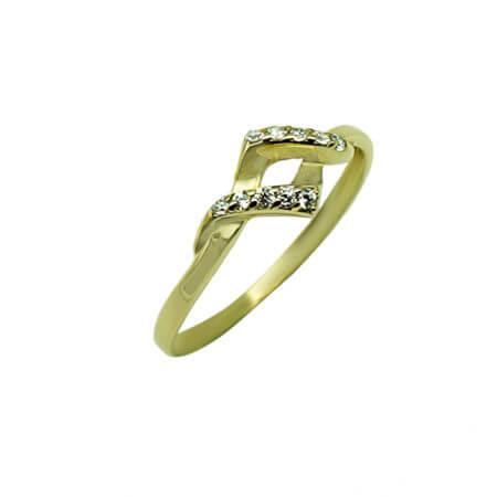 Ζιργκόν Πέτρες 14Κ Δαχτυλίδι Γυναικείο