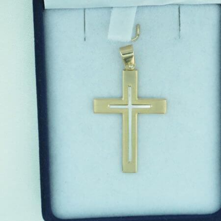 Αντρικός Σταυρός Χρυσό 14Κ Αγόρι Βάπτιση Αρραβώνας