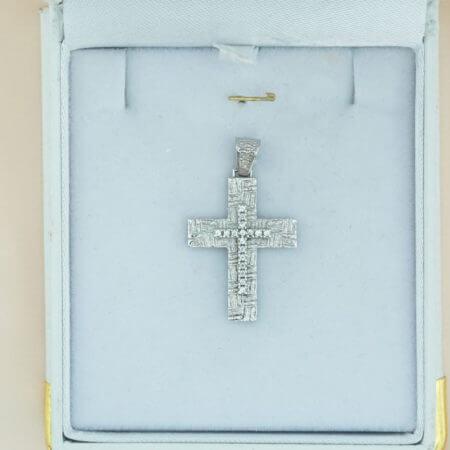 Γυναικείος Λευκόχρυσος Σταυρός 14Κ Βάπτιση Αρραβώνα