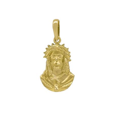 Χρυσό Φυλαχτό Πρόσωπο Χριστού 14Κ