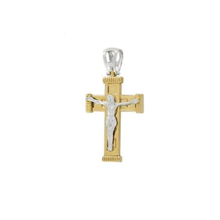 Χρυσός Σταυρός Με Τον Εσταυρωμένο 14Κ Βαπτιστικόςς