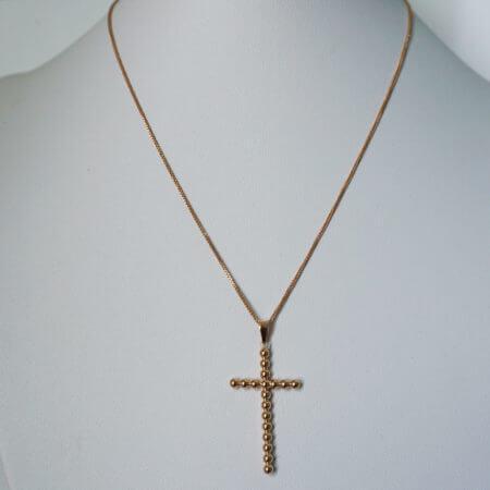 Ροζ Χρυσός Γυναικείος Σταυρός 14Κ