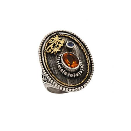Δαχτυλίδι Οβάλ Ασημόχρυσο Γυναικείο Χειροποίητο