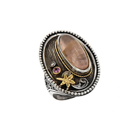 Δαχτυλίδι με Αχάτη Γυναικείο Ασήμι Χρυσό