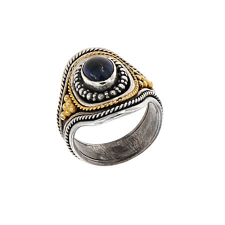 Δαχτυλίδι Ασημόχρυσο Γυναικείο 18Κ 950 Ζαφείρι