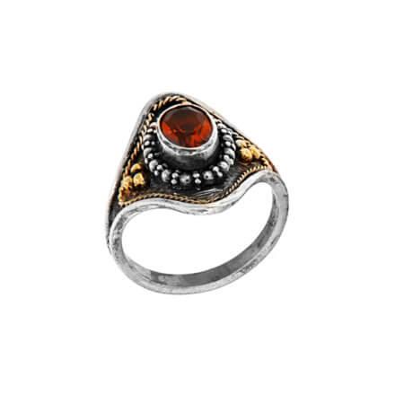Γυναικείο Δαχτυλίδι με Σιτρίν Χειροποίητο