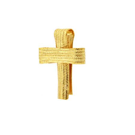 Χειροποίητος Σταυρός Από Χρυσό 14 Καρατίων
